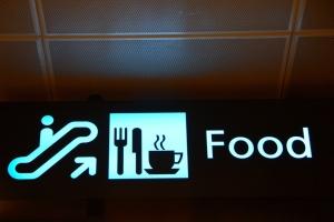 Restaurants directional sign