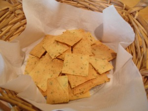 Savory Rosemary Almond Crackers