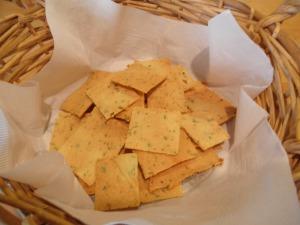 Savory Rosemary Almond Crackers