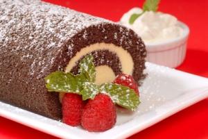 Christmas Buche de Noel cake